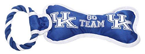 Pet Goods Manufacturing BONERP-056 NCAA Kentucky Wildcats Bone with Rope Dog Toy