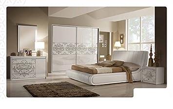 Schlafzimmer Teta In Weiß Creme Hell Modern Zimmer Komplett