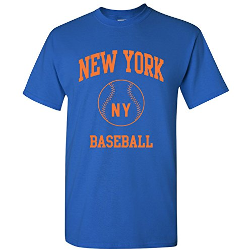 New York Classic Baseball Arch Basic Cotton T-Shirt - Large - Royal