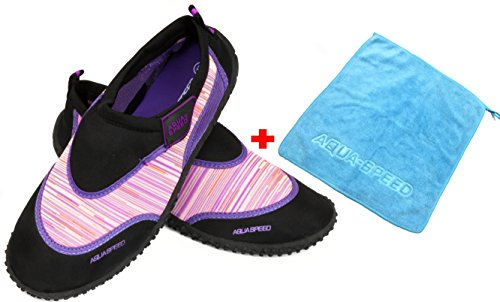 A Neopreno Pink Speed de Adolescentes Schwarz Mujeres Niños Set Zapatillas Aqua Unisex Hombres Agua MODELL Microfibra Zapatillas Aqua Zapatos Toalla 2 Aqua de CRTxBxqd