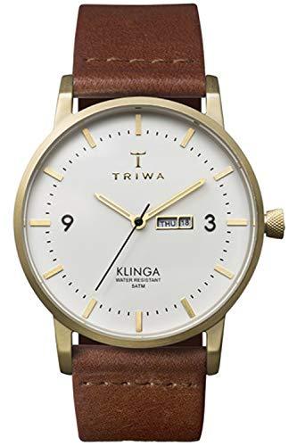 Triwa klinga Unisex Analog Japanese Quartz Watch with Leather Bracelet KLST103CL