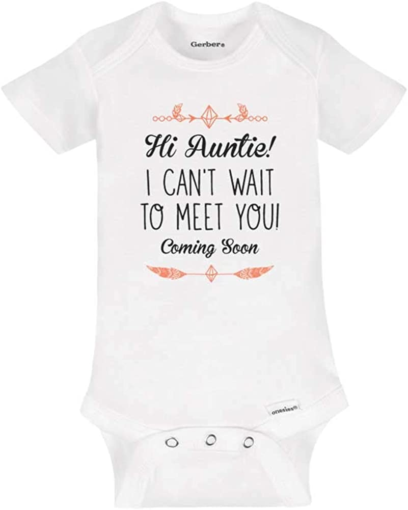 MY FAVOURITE AUNTIE PERSONALISED BABY GROW VEST CUSTOM FUNNY GIFT CUTE