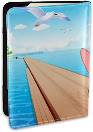 ピエスター パスポートケース 6.5インチ 防水 軽量 パスポートバッグ 旅行 薄型 パスポートホルダー 航空券対応 パスポートポーチ 男女兼用 PU カードケース スキミング防止 かわいい おしゃれ