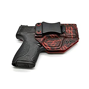 7. Smith & Wesson M&P Shield 9/40 IWB / AIWB EMT Red Seamless American Flag Kydex Holster