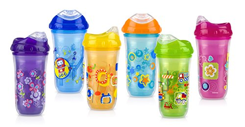 Nuby No-Spill Insulated Cool Sipper, 9 Ounce, Colors May Vary