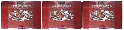 Kirkland Signature European Cookies with Belgian Chocolate, 49.4 Ounce (Pack Of 3)