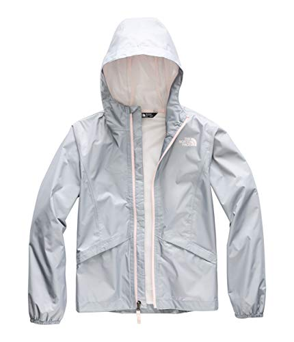 The North Face Kids Girl's Zipline Rain Jacket (Little Kids/Big Kids) Mid Grey X-Large