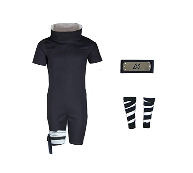 Amazon.com: Naruto Uchiha Sasuke Cosplay Black Ninja Suit ...