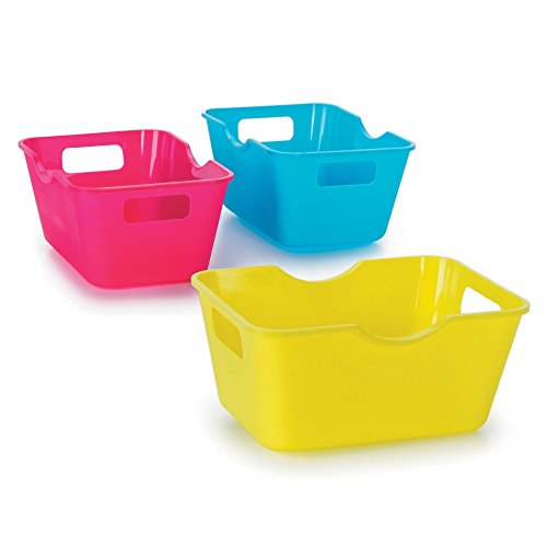Darice Crafter's Toolbox Mini Colorful Storage Bins - 4 x 2.75 inches - 3 (Darice Crafters Tool Box)