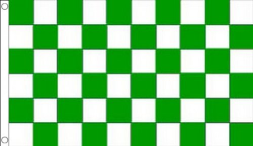 AZ FLAG Green and White Check Flag 3' x 5' - Checkered Racing Flags 90 x 150 cm - Banner 3x5 ft