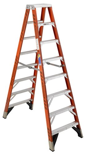 8' Slip Connector - Werner T7408 375-Pound Duty Rating Fiberglass Multi-Use Twin Ladder, 8-Foot
