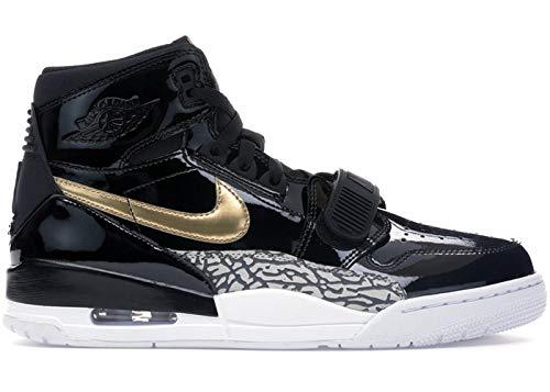 Nike Men's Air Jordan Legacy 312 Black/Metallic Gold/White AV3922-007 (Size: 8) by Nike