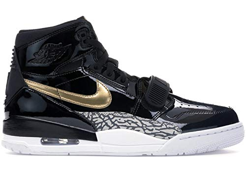Nike AIR Jordan Legacy 312 Mens Fashion-Sneakers AV3922 (9, Black/Metallic Gold/White)