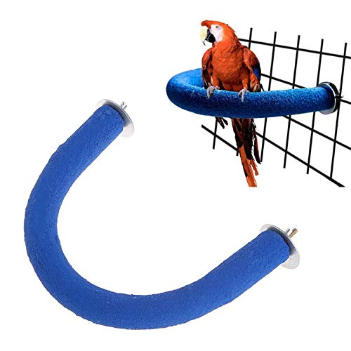 Stand Parrot - Parrot Perch U Shape Grinding Mouth Paws Claw Birds Stand Holder Rack Parakeet Pet Toys Cage - Music Beads Swing Cage Parrot Extra Rawhide Cockatoo Girls Bulk ()