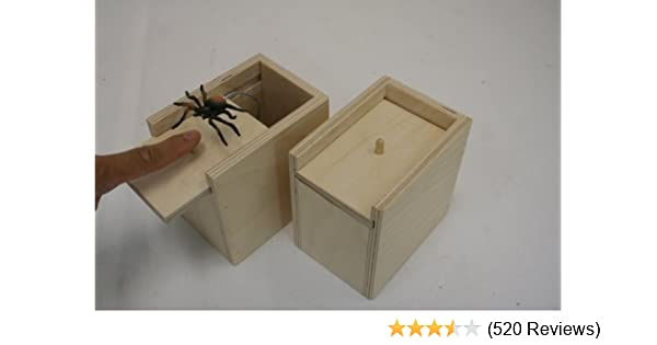 Handcrafted Surprise Box With Spiderpractical Surprise Joke Boxesspider Prank Scare Box