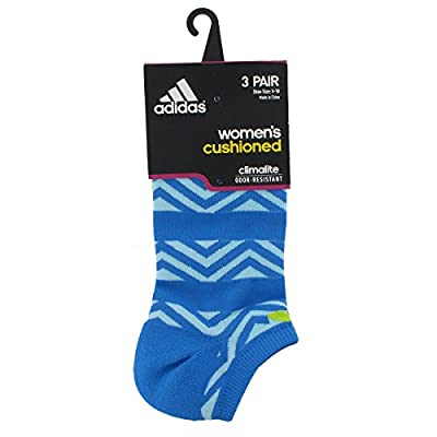 adidas Women's Cushioned No Show Socks (3-Pack)