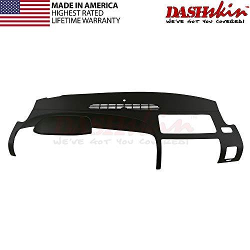 DashSkin Molded Dash Cover Compatible with 07-13 Silverado LS/LT & Sierra SL/SLE in Ebony (USA Made)
