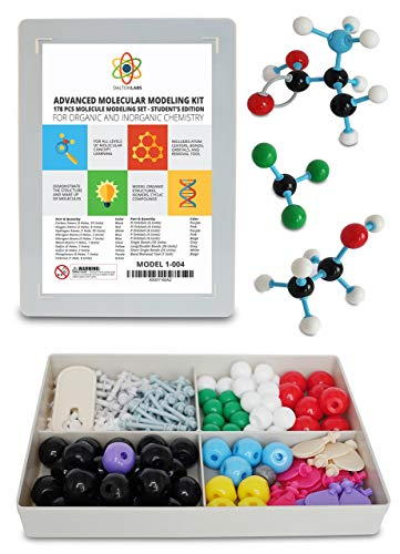 Molecular Model Kit with Molecule Modeling Software and User Guide - Organic, Inorganic Chemistry Set for Building Molecules - Dalton Labs 178 Pcs Advanced Chem Biochemistry Student ()
