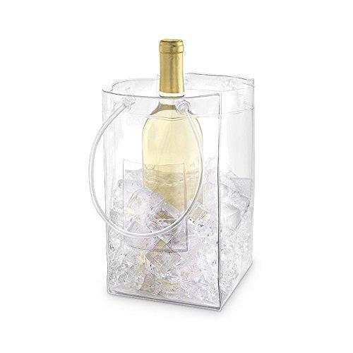 (Set of 12) The Chiller Wine Bottle & Ice Carrier Bag, Ice Bucket