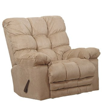 Catnapper Magnum Chaise Oversized Rocker Recliner Chair in Hazelnut