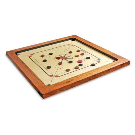 Surco Vintage-K Carrom Board with Coins and Striker Kikar Wood Frame, ()