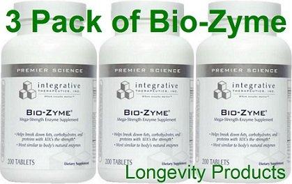 Integrative Therapeutics - Bio Zyme - 200 Tabs - 3 Pack