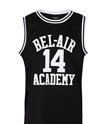 JOLI SPORT Will Smith #14 Jersey The Fresh Prince of Bel Air Basketball Jersey Mens Basketball Jersey ()