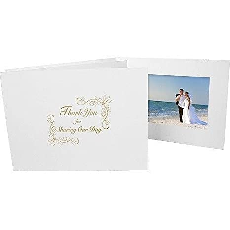 Amazoncom Wedding Thank You Gold Foil On White Cardboard Photo