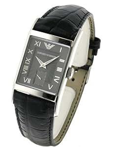 Armani correa de reloj AR-0247XL Piel de cocodrilo Negro 22mm(Sólo reloj correa - RELOJ NO INCLUIDO!)