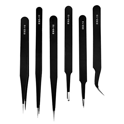 Smd Tip - OPCC OPCC-136 Non-Magnetic Steel Fine Curved Tip Tweezers