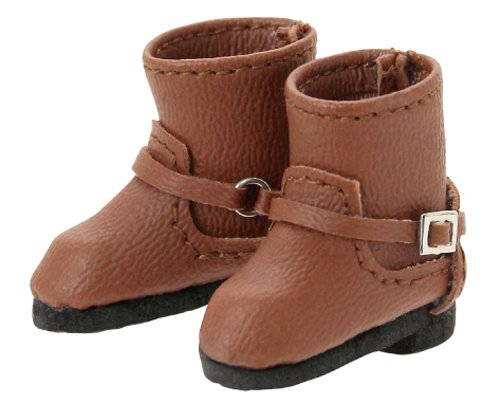 (Double buckle boots Brown Pure common AKT 112 -BRN Fashion doll accessories)