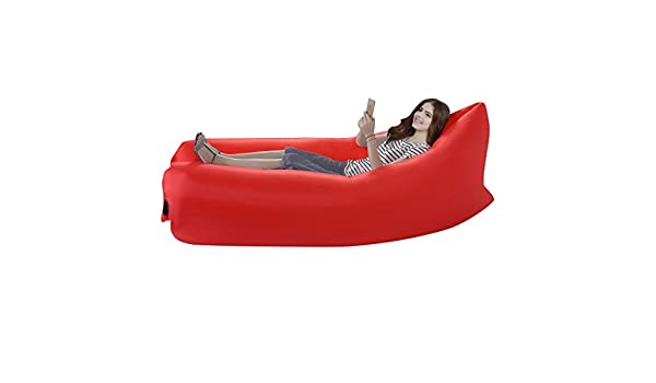 Lazy tumbona cama de aire inflable sofá puf de Lay saco ...