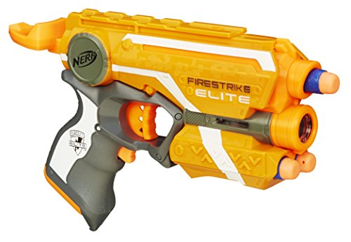 Nerf combines its original ball with a powerful gun, creating this Nerf-fan  favorite. It can unload 15 balls in less than 6 seconds.