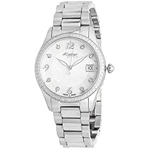 Kolber Classiques Women's White Mother of Pearl Dial Stainless Steel Band Watch - K3046201870