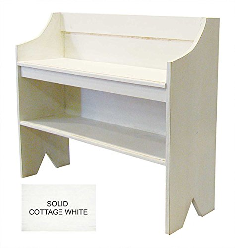 Bench with Shoe Shelf (Solid Cottage White) by Sawdust City