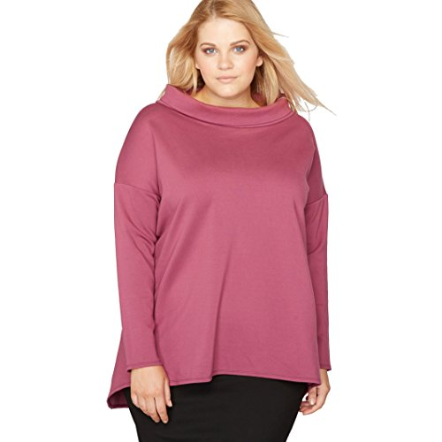 Castaluna Womens Flared Sweatshirt Style Top With Long Sleeves Purple Size Us (Milano Long Sleeve Blouse)