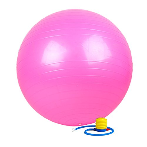 Exercise Ball with Pump- Gym Quality, 2000lb Anti-Burst, Anti-Slip Fitness Ball by Kevenz. More colors and sizes available aka Yoga Ball, Swiss BalL (Pink, 65mm)