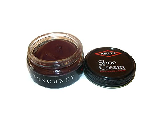 Made in USA Kelly's Shoe Cream Leather Polish - Burgundy Leather Shoe Polish