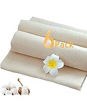 Mousseline doeken voor zeven, 6-delige ultrafijne katoenen ongebleekte kaasdoeken om te koken, herbruikbare zeefdoek filterdoek voor het persen van fruit, wijn, boter, kaas, notenmelk (50x50cm) 0
