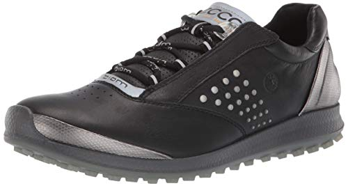 ECCO Women's Biom Hybrid 2 Golf Shoe, Black Yak Leather, 7 M US