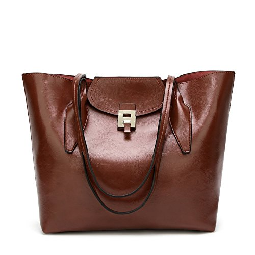 Penao Solo bolso messenger, bolso de la manera de las señoras, 33cmx14cmx32cm tamaño de la hebilla coffee
