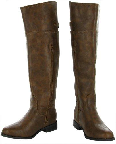 Breckelles Womens Rider-82 Riding Boot Tan
