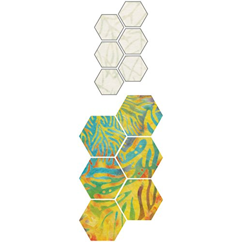 Die Cuts Scrapbooking Paper Piecing (Go! Fabric Cutting Dies-Paper Piecing Hexagon 1/2)