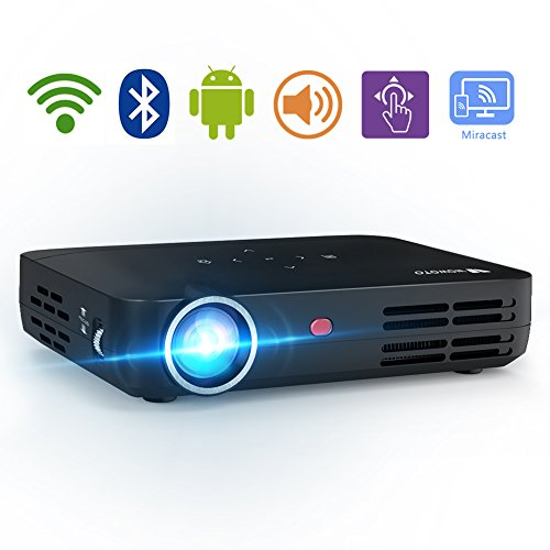 1080p 3d Package - WOWOTO H8 3000 lumens Video Projector DLP Support 3D 1080P HD LED Perfect For Entertainment Business Android IOS Download Install Apps HDMI AV USB SD RJ45 Wireless Screen Share Projection Screen