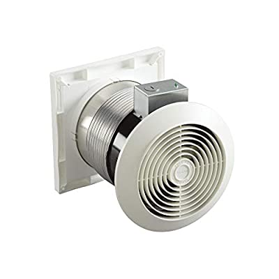 Broan Through Wall Ventilation Fan, White Square Plastic Grille