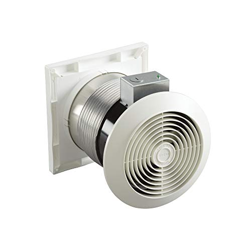 (Broan Through-the-Wall Ventilation Fan, White Square Exhaust Fan, 3.5 Sones, 70 CFM, 6