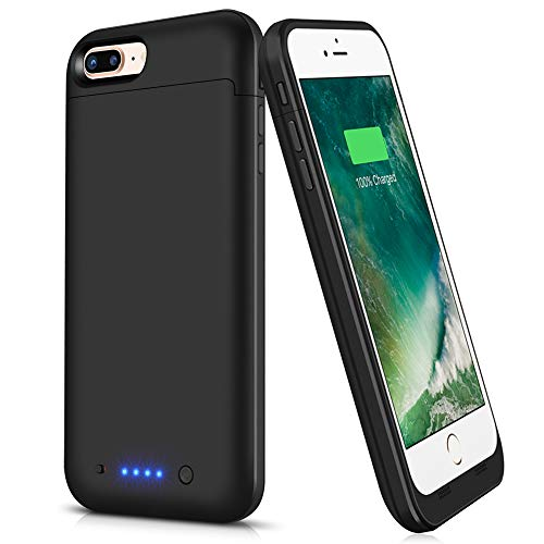 VinPone iPhone 8 Plus/7 Plus Battery Case,7000mAh Extended Portable Battery Charging Case for 8 Plus Battery Pack Charger Case for iPhone 7 Plus,8 Plus -Black