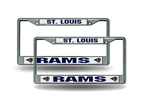 St. Louis Rams Chrome License Plate Frame - Set of -