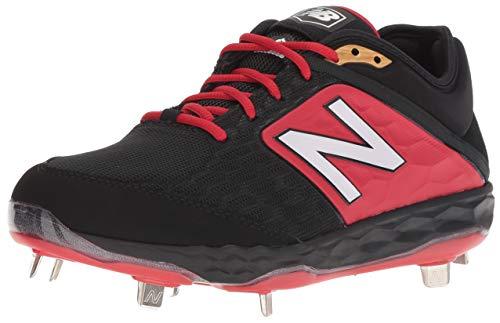 New Balance Men's 3000v4 Baseball Shoe, Black/Red, 5 D US