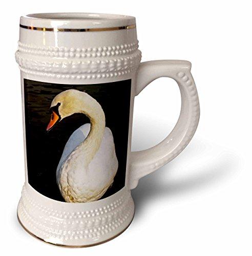 Hyde Park Beer - 3dRose Danita Delimont - Birds - England, London, City of Westminster. White Swan on The Long Water. - 22oz Stein Mug (stn_257906_1)